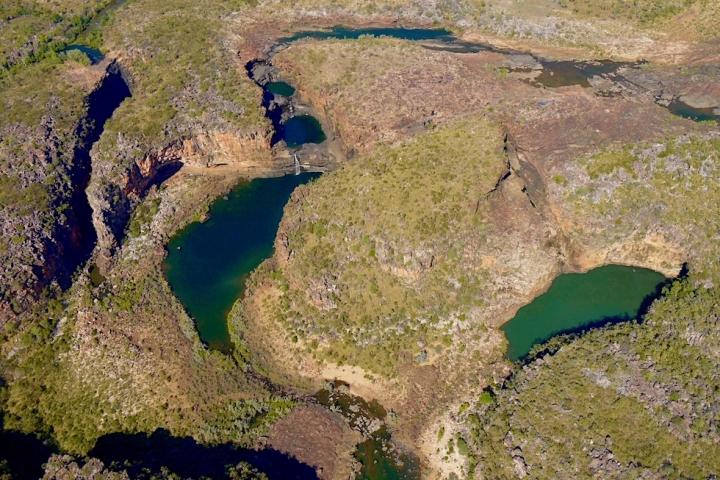 Mitchell Falls: Eines der Highlights des Wandjina Explorer Rundflugs - Kingfisher Tours Scenic Flights, Kununurra - Kimberley - Western Australia
