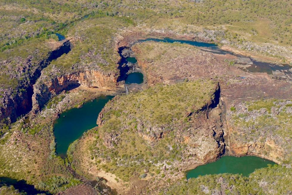 Überwältigend schön: Mitchell Plateau aus der Vogelperspektive - Mitchell River National Park - Kimberley Outback - Western Australia