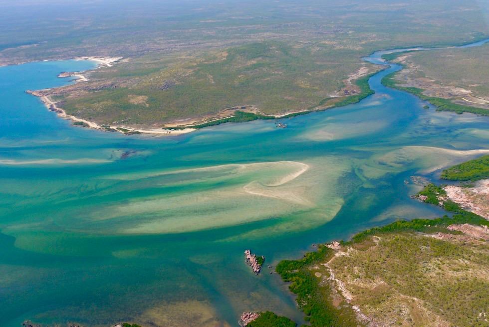 Napier Broome Bay - Mündungsgebiet des Drysdale River: Sandbänke zaubern Wassergeister - Kimberley Nordostküste - Western Australia