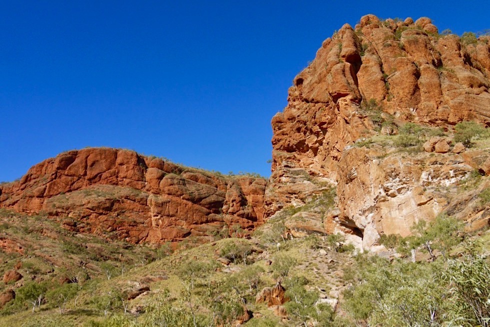 Osmand Lookout - Blick auf Hochplateau - Echidna Chasm im Purnululu National Park - Kimberley, Western Australia