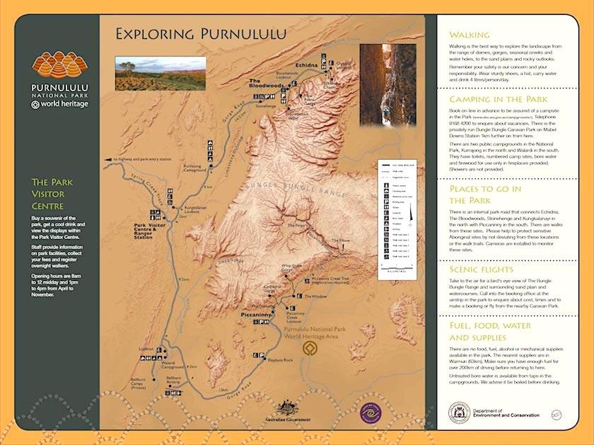 Purnululu National Park - Map - Kimberley - Western Australia