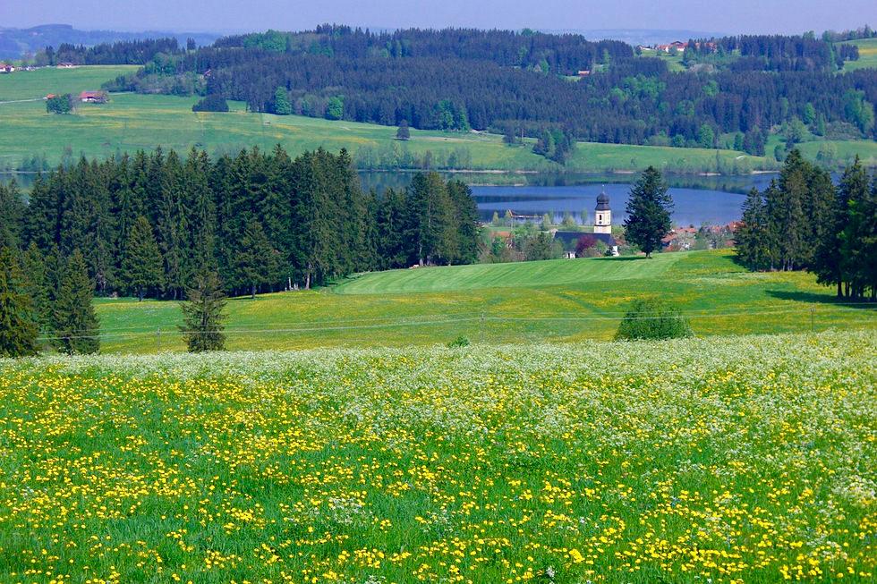 Rottachsee - Panaramalogen -Wandertrilogie Allgäu - Bayern
