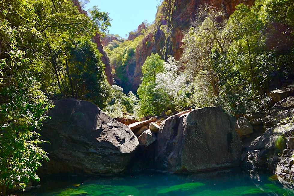 Turquoise Pool & Blick auf Felsschlucht der Emma Gorge - El Questro - Kimberley - Western Australia