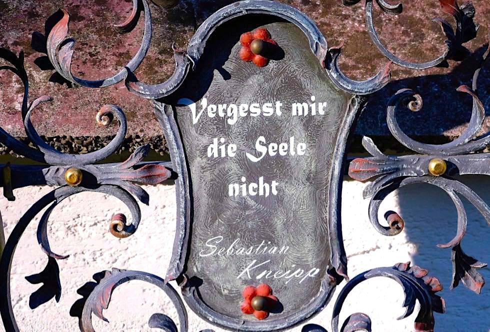 Vergesst mir die Seele nicht - Sebastian Kneipp Gedenktafel - Bad Wörishofen - Bayern