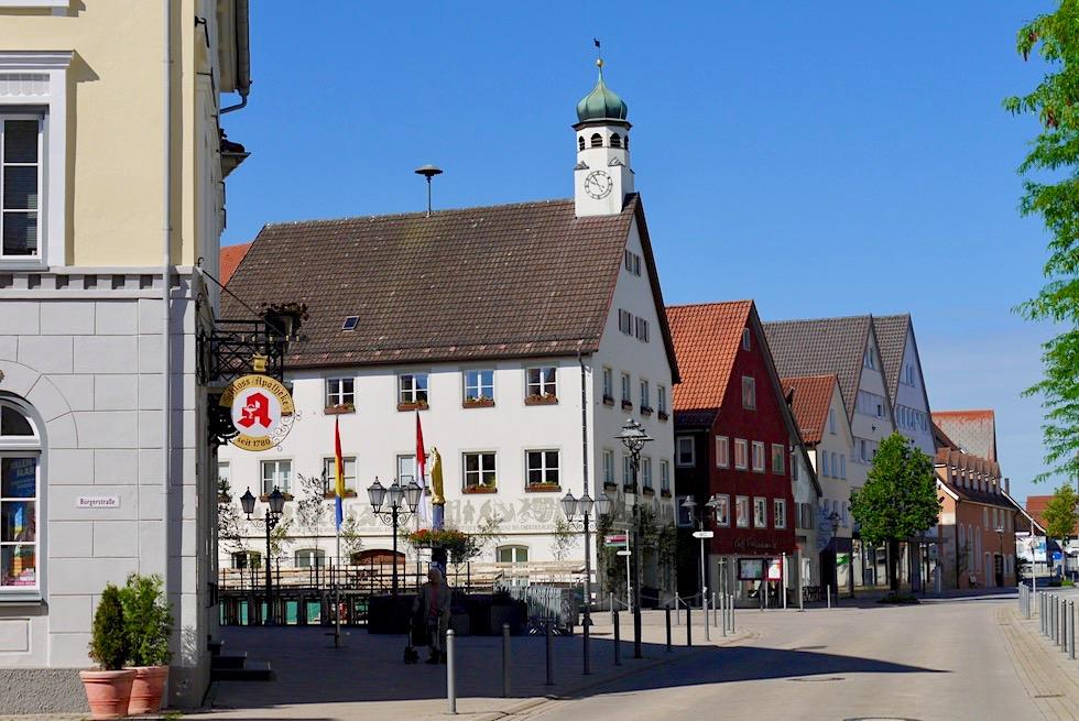 Bad Wurzach - Schöner Rathausplatz - Baden-Württemberg
