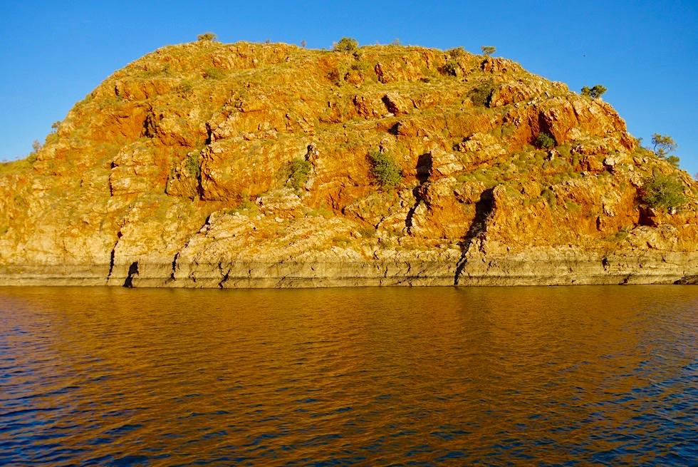 Best of Lake Argyle - Felswände kurz vor Sonnenuntergang - Kimberley - Western Australia