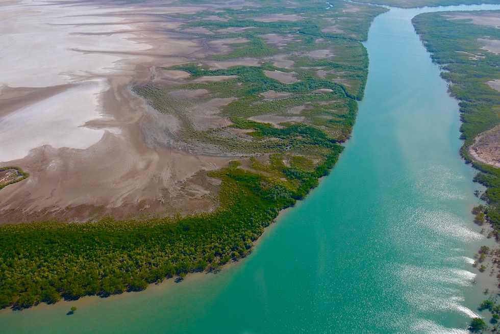 Cambridge Gulf - Wasserarme, Schwemmlandschaft & Mangroven-Arme - Kimberley Outback - Western Australia