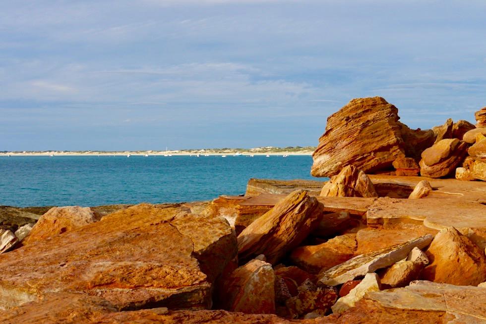 Gantheaume Point - Türkisblauer Indischer Ozean & weißer Strand vom Cable Beach - Broome - Kimberley, Western Australia