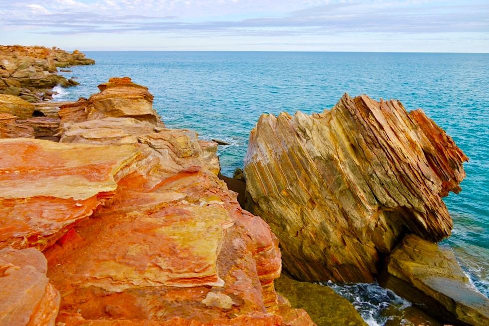 Gantheaume Point - Leuchtend bunte Felsen & türkises Meer - Kimberley, Western Australia