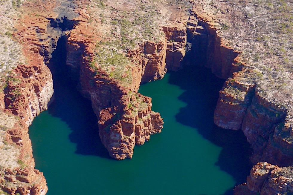 Aus der Vogelperspektive: King George Falls - Kingfisher Tours Scenic Flight - Kimberley Outback - Höchste Zwillingswasserfälle von Western Asutralia