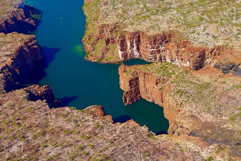 King George Falls & faszinierenden Sandsteinklippen - Scenic Flight Kingfisher Tours - Kimberley Outback - Western Australia