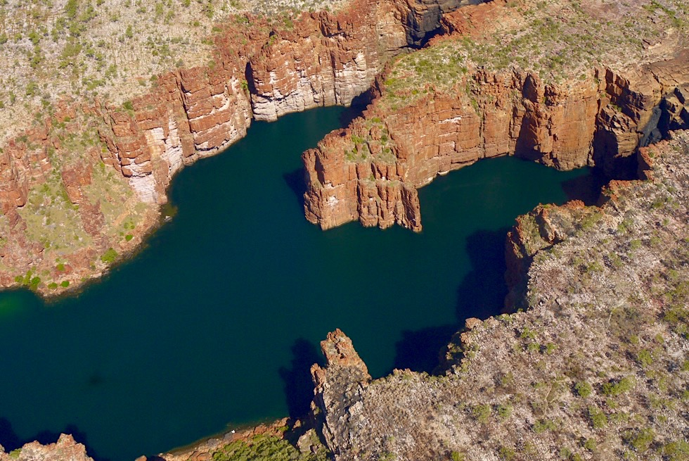 King George Falls: aus der Vogelperspektive - Kimberley Outback & Nordküste - Western Australia