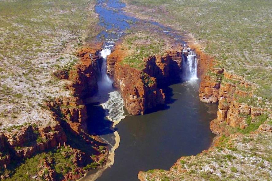 Faszinierende King George Falls - herabstürzende Wassermassen - Kimberley Outback - Western Australia
