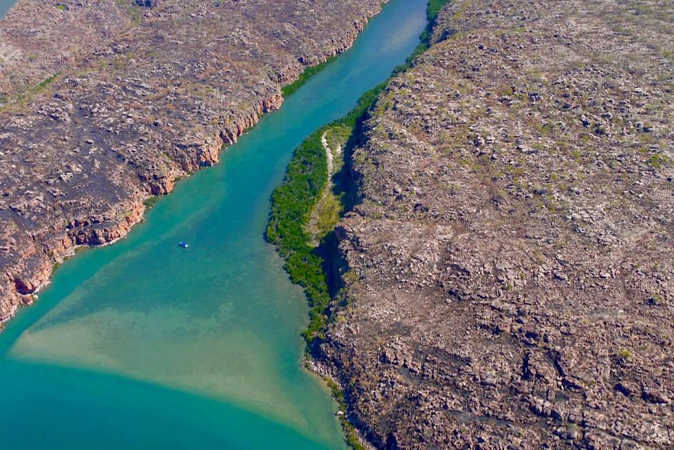 Wunderschöner King Gorge River & Schlucht: auf dem Weg zu den King George Falls - Kimberley Outback - Western Australia