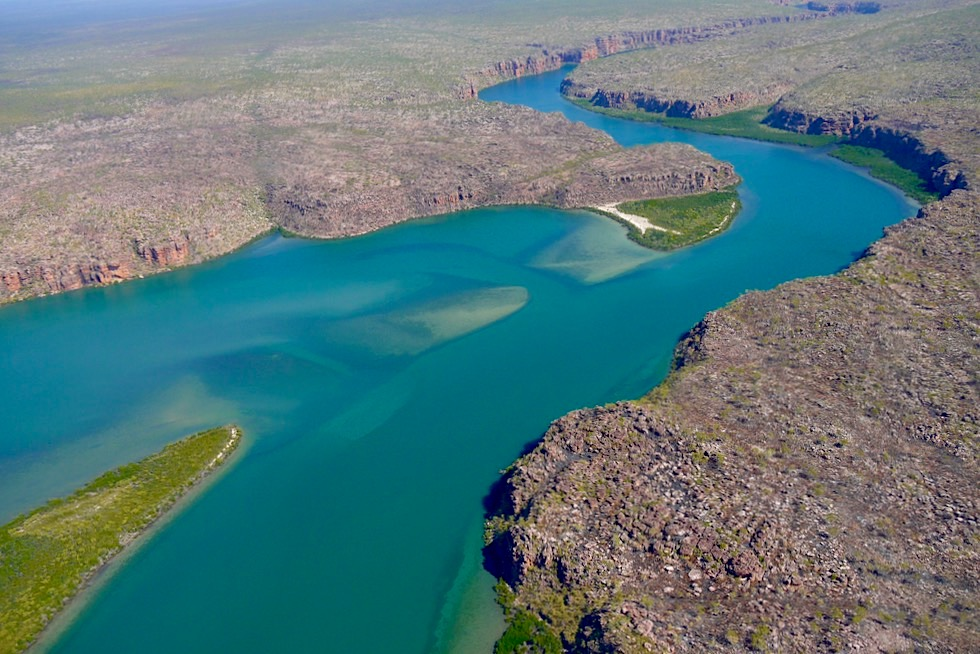 Koolama Bay, King Gorge River auf dem Weg zu den King George Falls - Kingfisher Scenic Flight - Kimberley - Western Australia