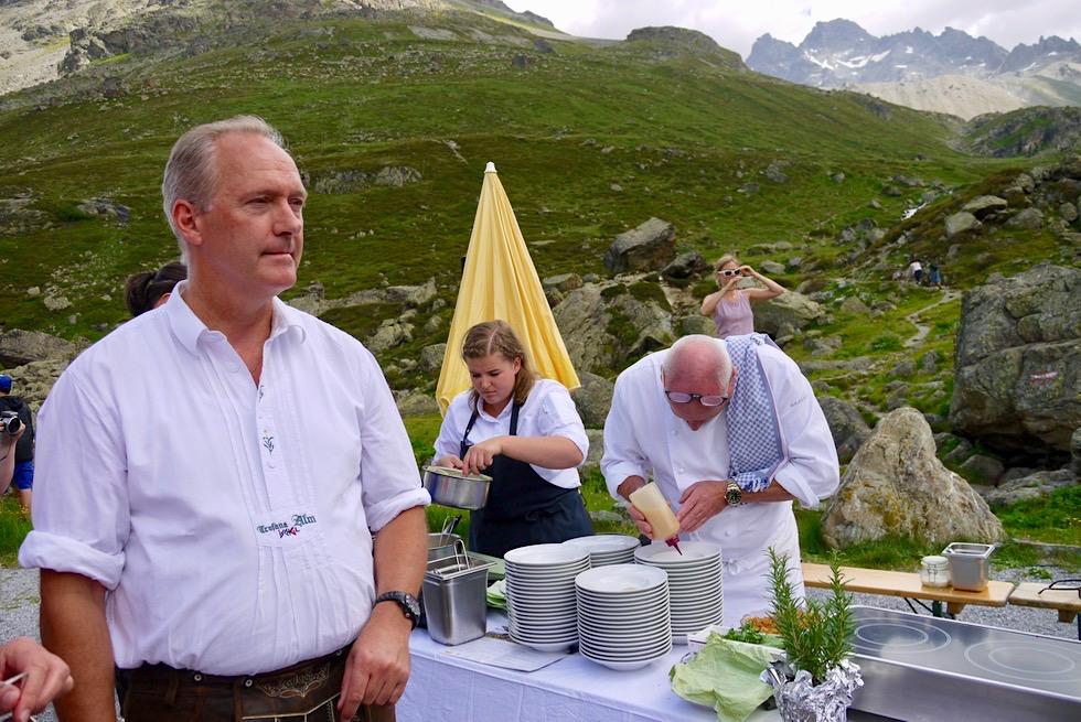 Kulinarischer Jakobsweg - Schirmherr und Sternekoch Martin Sieberer - Ischgl, Paznaun - Österreich