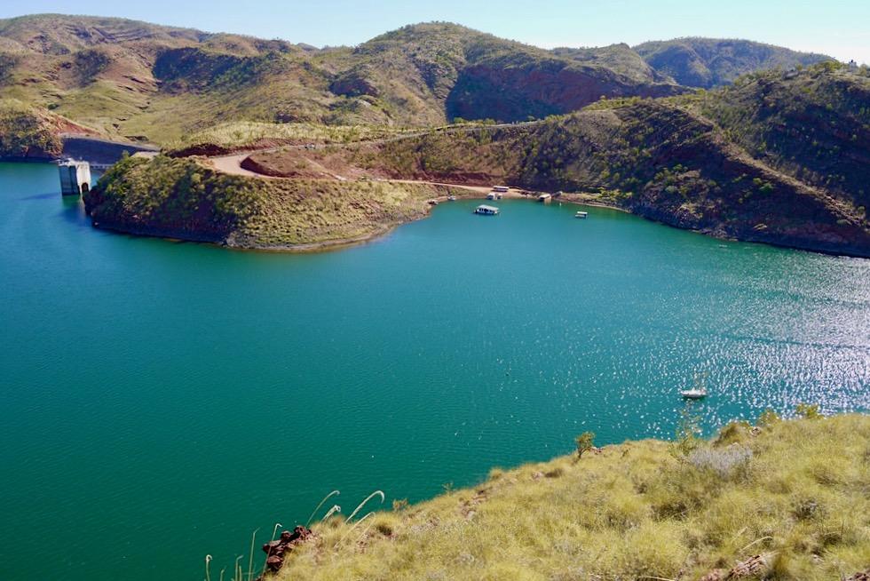 Lake Argyle - Herrlicher Ausblick auf Stausee & Bootsanleger - Kimberley - Western Australia