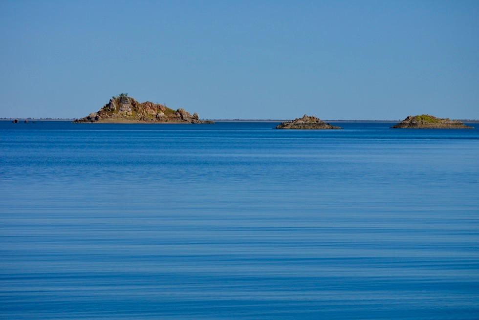 Lake Argyle - ehemalige Bergspitzen sind die heutigen Inseln - Kimberley - Western Australia