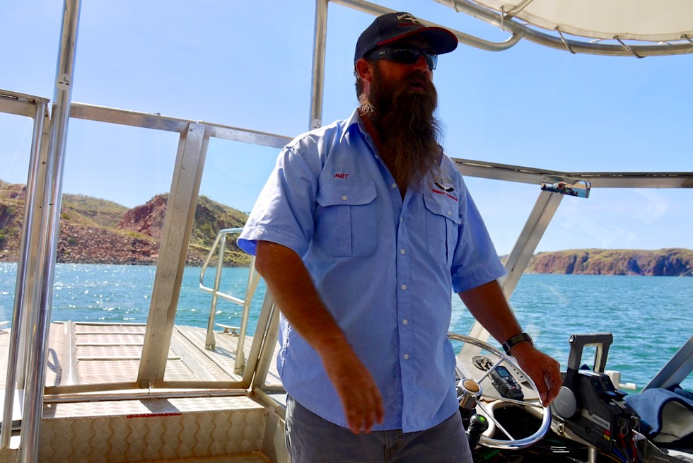 "Lake Argyle Cruises - Matt, humorvoller & super professioneller Guide von ""Best of Lake Argyle"" - Kimberley - Western Australia"