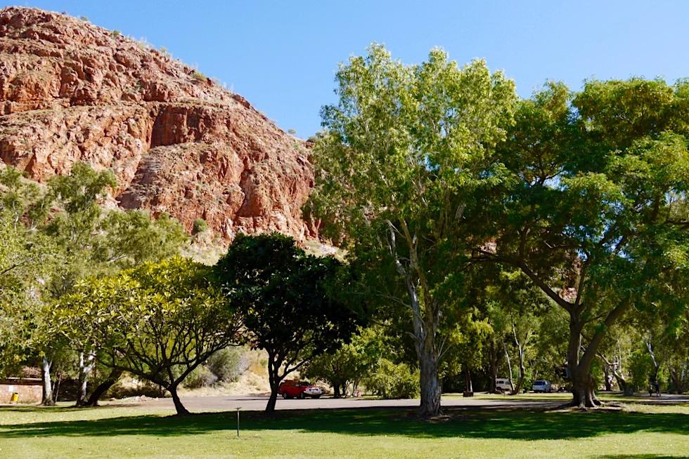 Ein kleiner Park im Outback: Lake Argyle Picknick Area - Kimberley, Western Australia