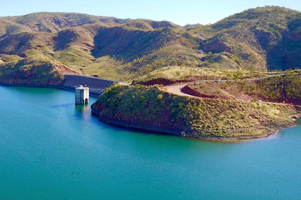Lake Argyle - Staudamm vom The Bluff Lookout gesehen - Kimberley, Western Australia