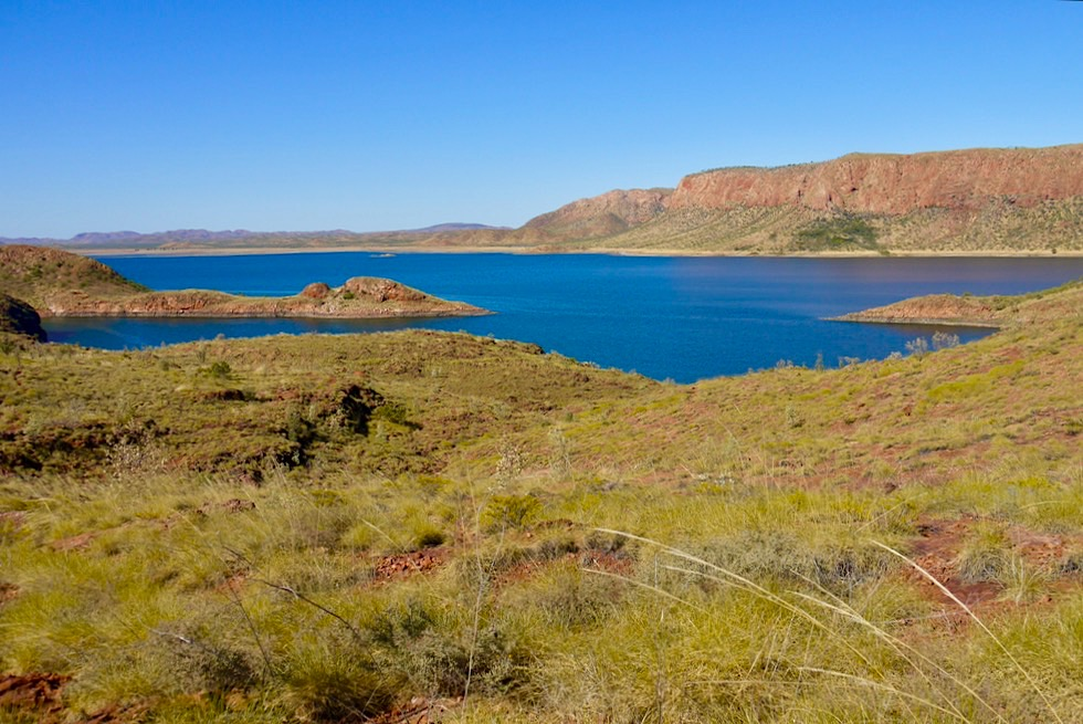 Lake Argyle Wanderungen - The Bluff Walk: Pannikin Bay View - Kimberley, Western Australia