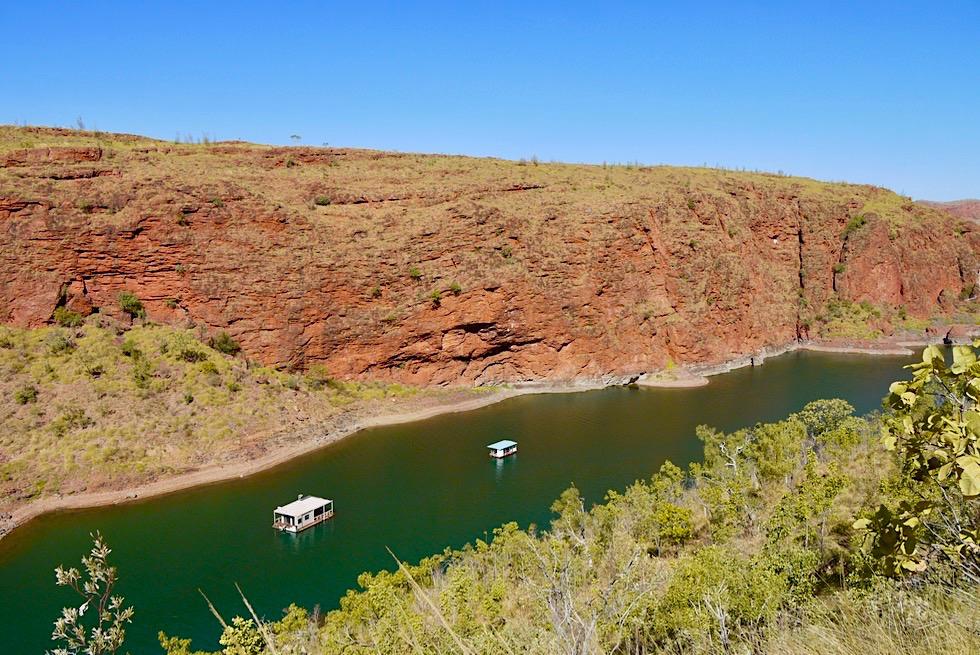 """Lake Argyle Wanderungen: Beginn des """"The Bluff"""" Walk Trails - Kimberley - Western Australia"""