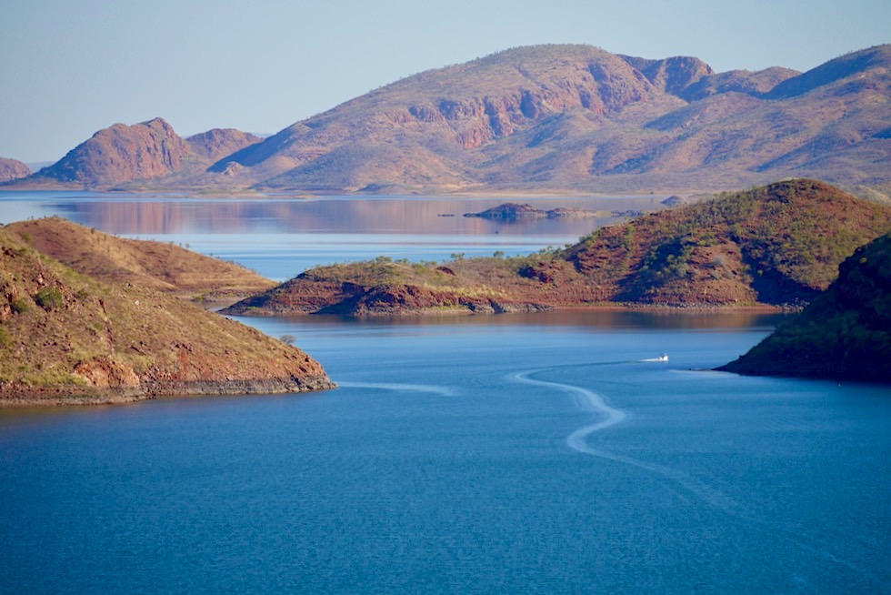 Lake Argyle Wanderungen - The Bluff: Spektakulärer Ausblick auf den Lake Argyle - Kimberley, Western Australia