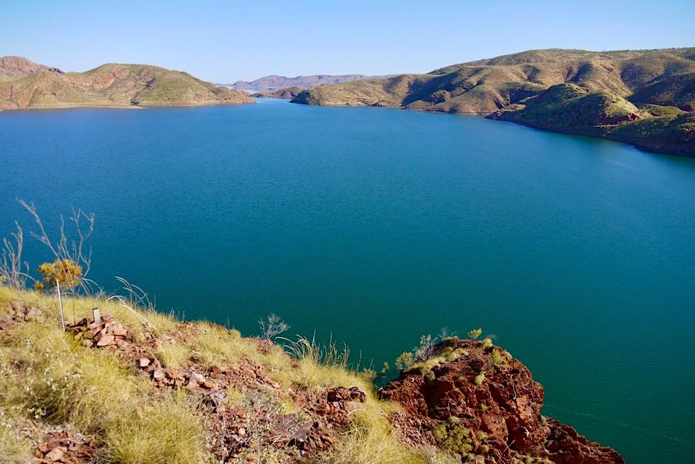 Lake Argyle Wanderungen: The Bluff Lookout - Ausblick auf den Stausee - Kimberley, Western Australien