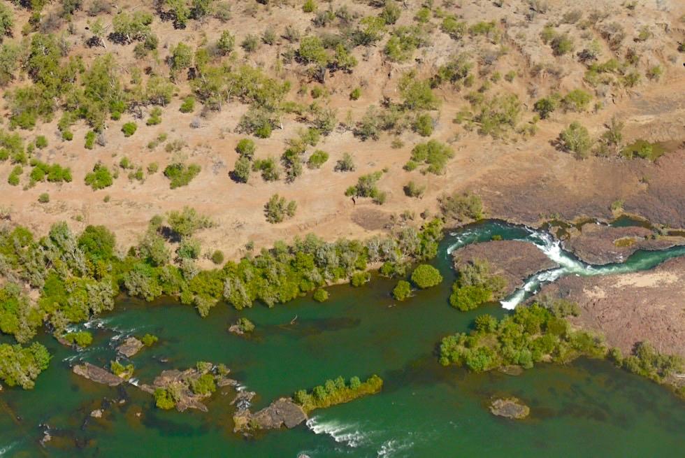 Lower Ord River - Stromschnellen aus der Vogelperspektive - Kununurra - Western Australia
