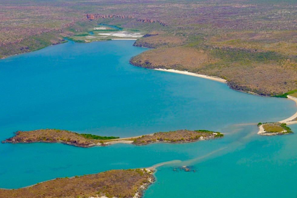 Wildschöne Napier Broome Bay & Blick auf Drysdale River Delta - Nordküste Kimberley - Western Australia