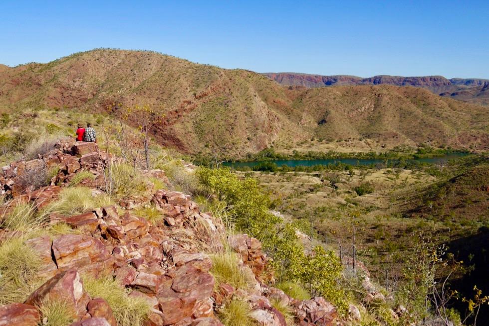 Lake Argyle Wanderungen: Ord River Gorge Walk - Ausblick am Ende weit hinter dem offiziellen Lookout - Kimberley - Western Australia