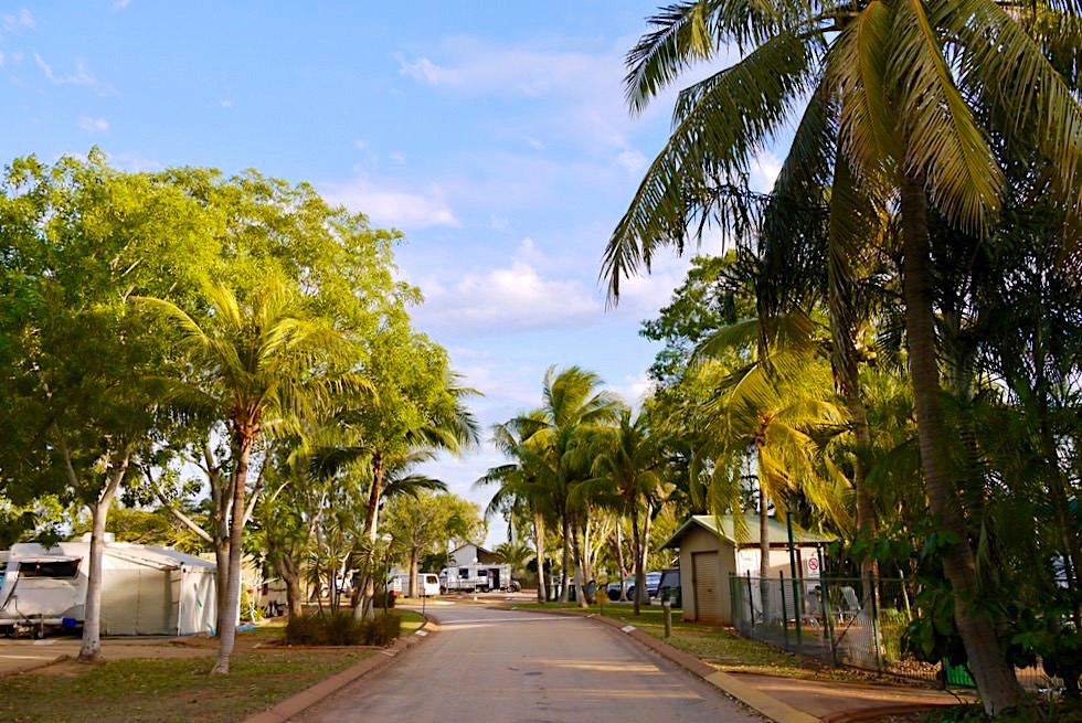 Schönster Caravan Park in Broome: Palm Grove Holiday Resort - Kimberley - Western Australia