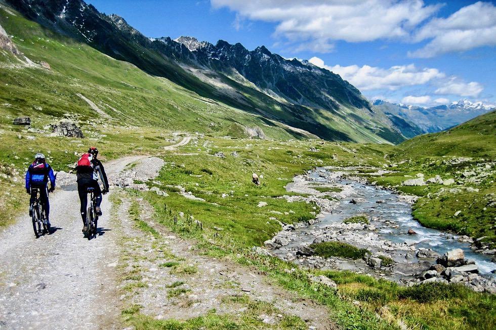 Paznaun - Mit dem Mountainbike oder EBike zu den Genuss-Hütten radeln - Tirol - Österreich