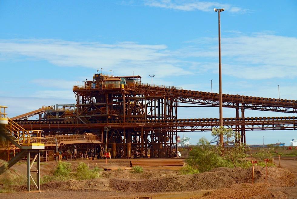 Port Hedland - BHP Iron Ore Tour: Eisenerz Transportbänder - Pilbara - Western Australia
