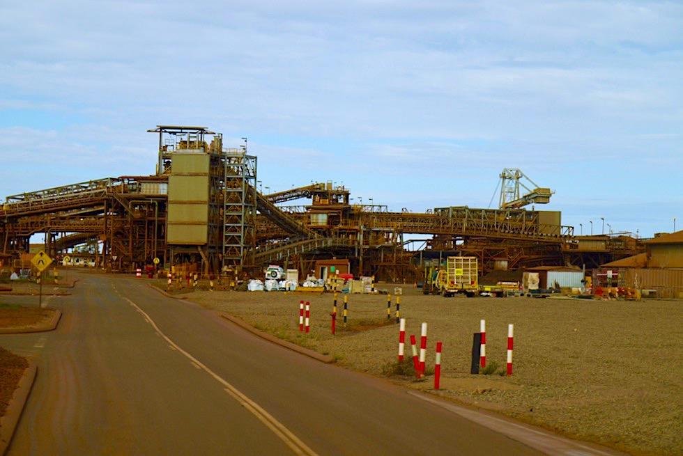 Port Hedland - BHP Iron Ore Tour: Verladestationen Eisenerz-Schutt - Pilbara - Western Australia