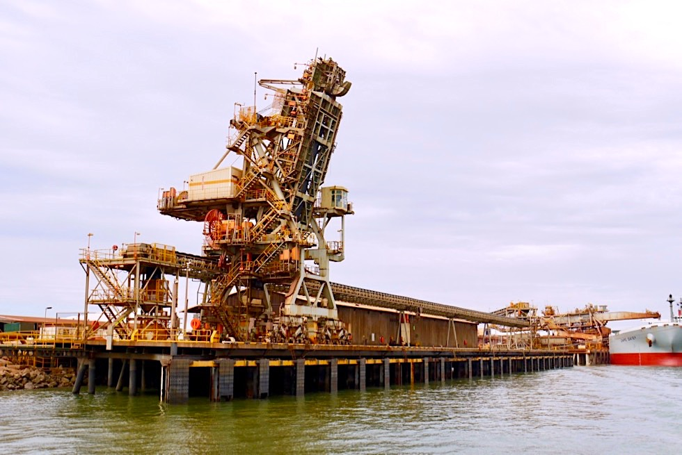 Port Hedland - Salzverladung auf Containerschiff - Pilbara - Western Australia