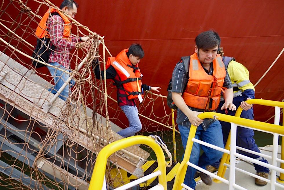 Port Hedland Seafarers Centre Tours - Seeleute werden vom Schiff abgeholt - Pilbara - Western Australia
