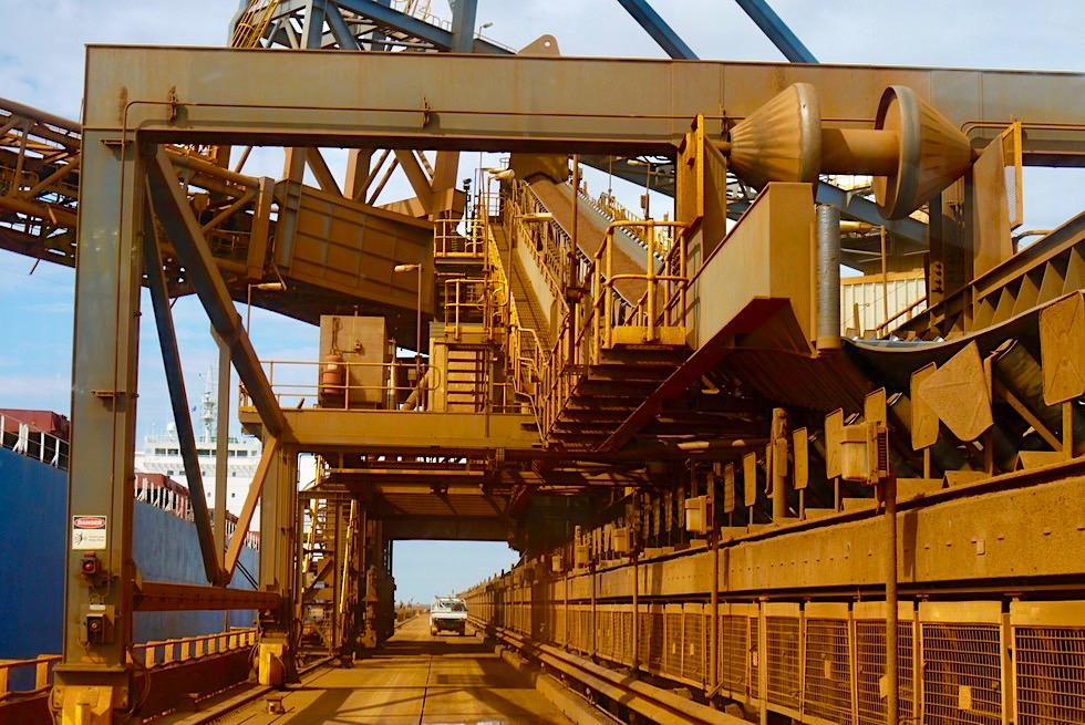 Port Hedland - Seafarers Centre Iron Ore Tour- Verladung Eisenerz auf Frachtschiffe - Pilbara - Western Australia