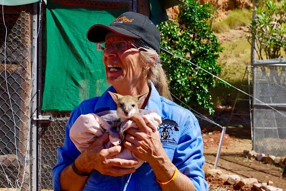 Roys Retreat Wildlife Reserve - Barbara mit kleinen Kängurus - Kimberley, Western Australia