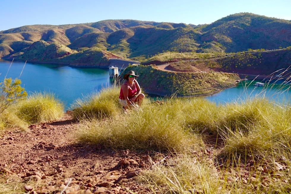 Faszinierende Ausblicke von St Georges Terrace - Lake Argyle Wanderungen - Kimberley, Western Australia