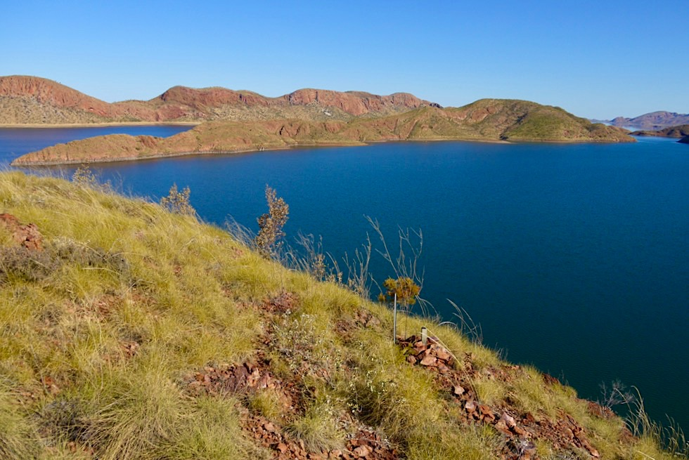 St Georges Terrace & The Bluff Lookout - Lake Argyle Wanderungen - Kimberley - Western Australia