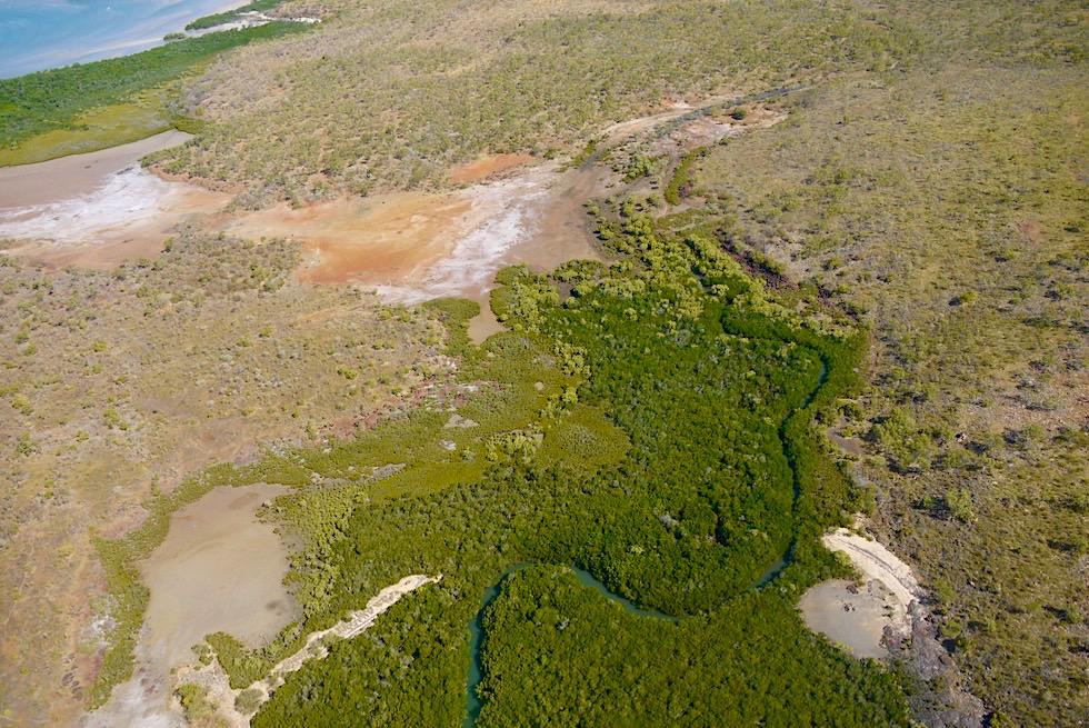 Timor See & Joseph Bonaparte Golf - Kleine Inseln aus der Vogelperspektive - Kimberley Outback - Western Australia