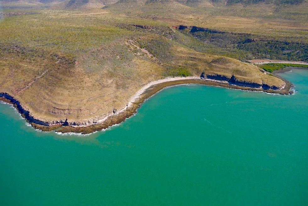 Timor See & sanfte, weiche Küstenlinie des Kimberley Outback - Western Australia