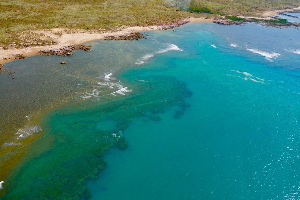 Einzigartig: die Farben der Timor See - Saum-Rifflandschaft - Kimberley Outback - Western Australia