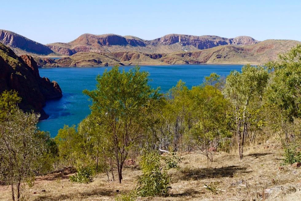 Lake Argyle: Watertank Lookout - Auf dem Weg nach oben - Kimberley, Western Australia