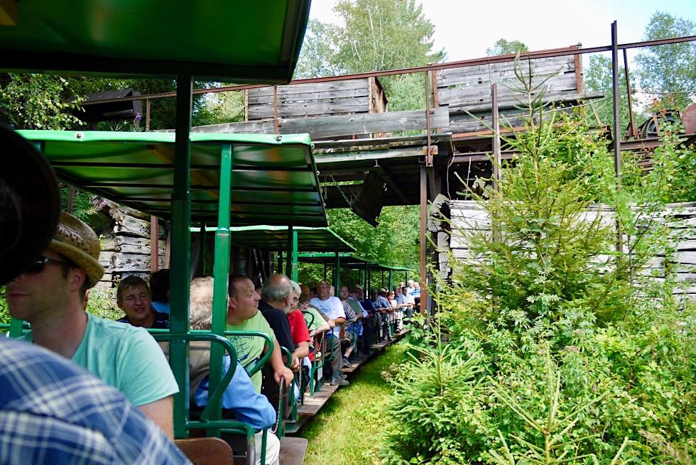 Wurzacher Ried - Mit der Torfbahn durch die Verladestation des ehemaligen Torfwerk Haidgau - Hochmoor - Baden-Württemberg