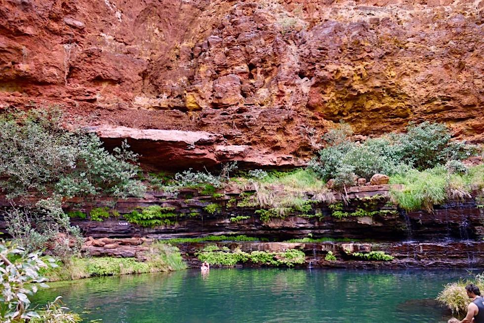 Einladend & schön: Circular Pool unten - Karijini NP - Pilbara, Western Australia