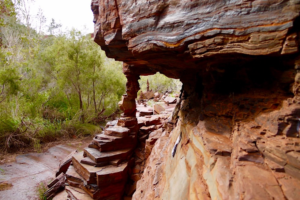 Dales Gorge Wanderung - Imposante Erosionen & Natur als Bildhauer - Karijini National Park - Pilbara, Western Australia