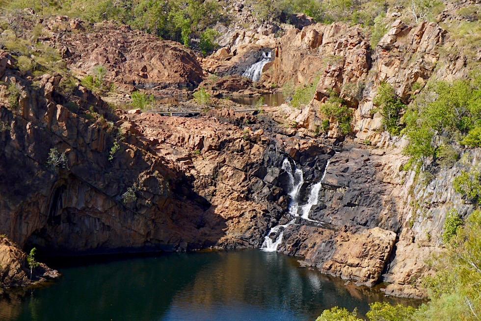 Edith Falls - Bemang Lookout: Ausblick auf Upper Pool, Wasserfälle & Felsplateau - Nitmiluk National Park - Northern Territory